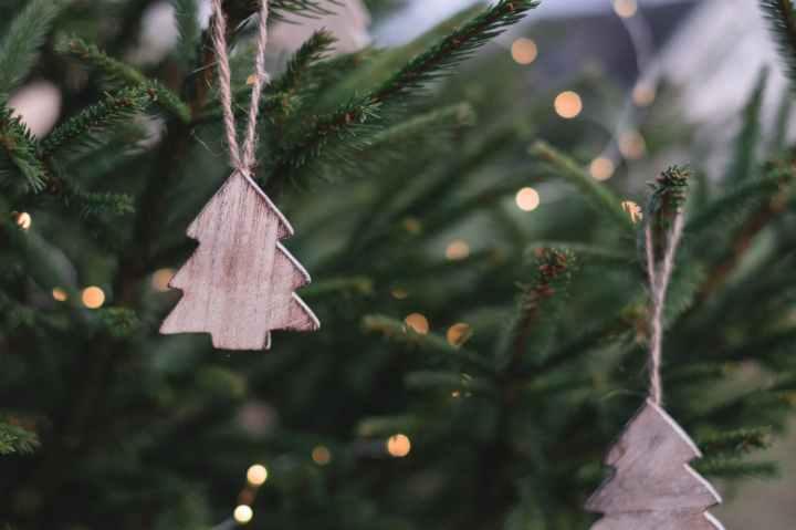 christmas ornaments on christmas tree